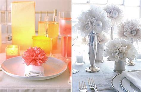 5 ideas inexpensive wedding reception tables centerpieces