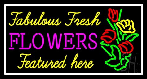 Heres To A Fabulous by Fabulous Fresh Flowers Featured Here Neon Sign Flower
