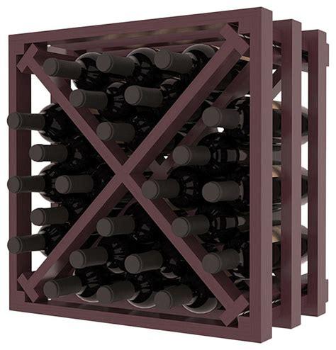 Lattice Wine Rack by Lattice Stacking X Wine Cube In Ponderosa Pine