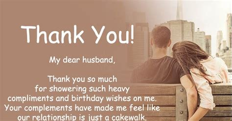 message for my husband thank you messages for birthday wishes to husband thank you