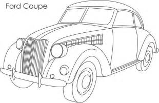 Page Ford Ford Coupe Car Coloring Printable Page For
