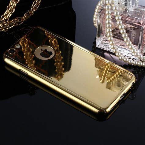 Iphone 6 Plus 55 Plating Mirror Aluminium With Silicone Grey luxury bling metal skin plating front back mirror for iphone 7 6 6s plus 360