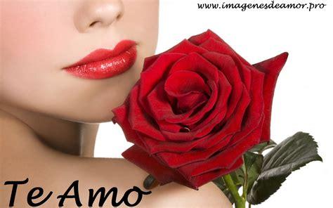 imagenes de bocas rojas 14 imagenes de hermosas rosas con frase te amo