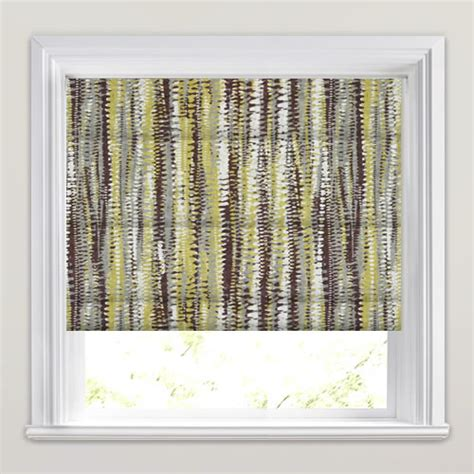 yellow patterned roman blinds brown yellow taupe white aztec patterned roman blinds