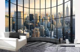 new york office view behang alle info behang