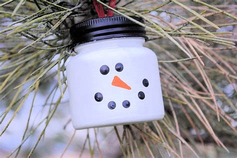easy snowman ornaments for christmas