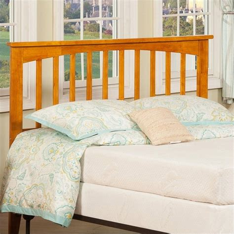 mission headboards atlantic furniture mission slat headboard in light brown