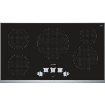 Thermador Electric Cooktop - thermador cem366tb 36 quot electric cooktop