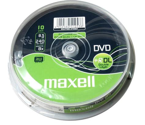 Dvd R Dual Layer Mediatech 8 5gb Speed 8x maxell dvd dual layer dvd dual layer dvd r 8 5gb dl 8x 10 spindle pack