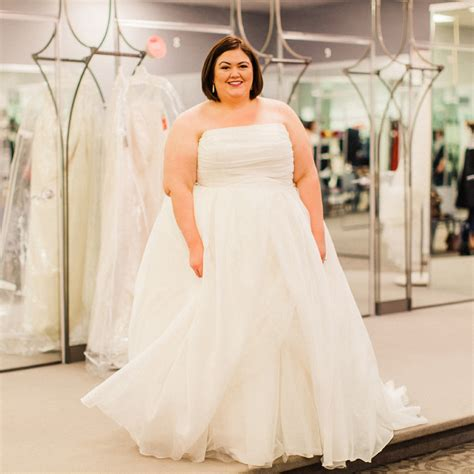 Plus Size Wedding Dresses On Plus Size Models by Plus Size Wedding Dress Shopping With David S Bridal