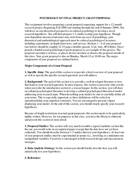 format proposal for a research paper best photos of grant proposal exle apa style apa