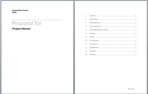 project proposal template word templates