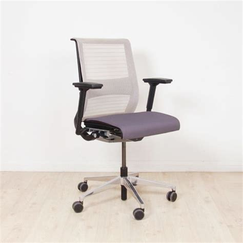 steelcase office chairs uk steelcase think operator chair white 163 grey mesh back