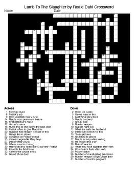 groundhog day director crossword to the slaughter by roald dahl crossword word search