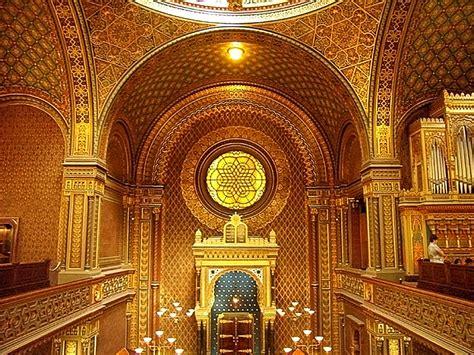 Interior Of A Synagogue by Synagogue Synagogue In Prague Museum Prague
