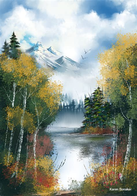 bob ross nature paintings bob ross s iconic style goes digital new web tutorial