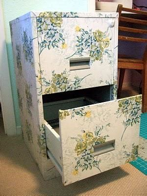 decoupage filing cabinet update metals and fabrics