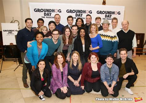 groundhog day cast freeze frame meet the cast of broadway s groundhog day
