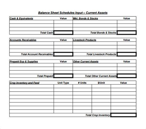 Balance Sheet Template Free sle balance sheet 16 documents in word pdf excel