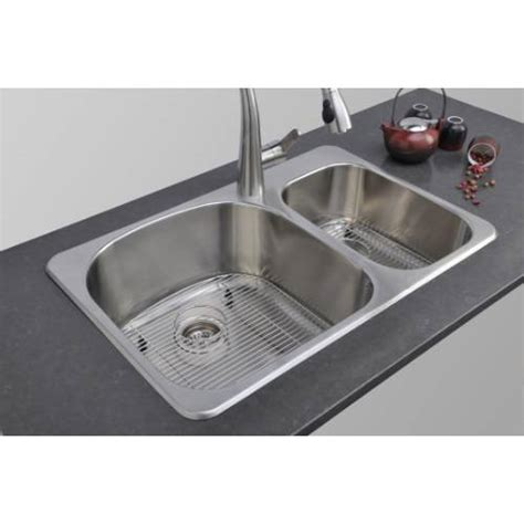kitchen sink package sinkware 18 bowl topmount stainless