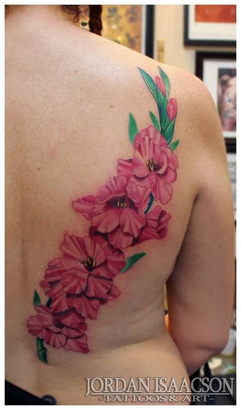 pink flower tattoo 60 one trendy gladiolus tattoos golfian
