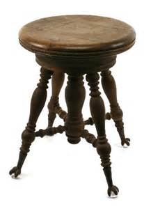 Vintage Piano Stool by Antique Claw Foot Oak Adjustable Piano Stool Lot 10124