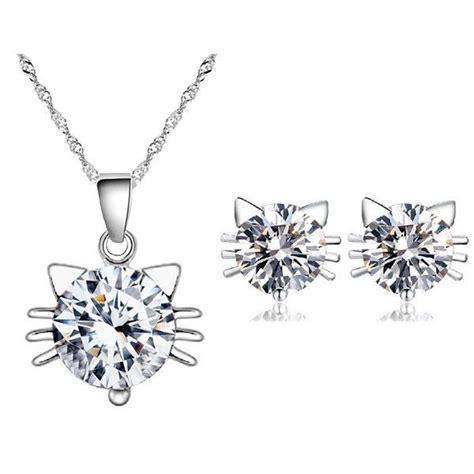 Sushify Your With This Great Earring And Necklace Set by 17 Best Images About Cat Jewelry Sets On