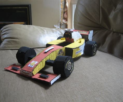 How To Make A Race Car Out Of Paper - how to make a cardboard f1 all