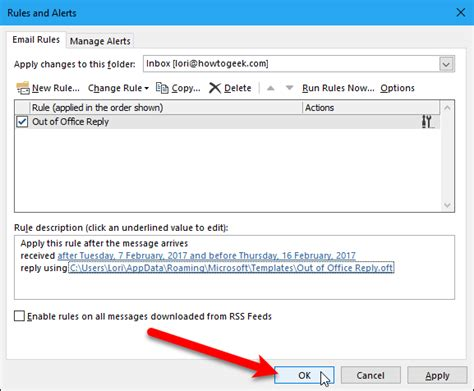 How To Set Up An Out Of Office Reply In Outlook For Windows Out Of Office Email Template