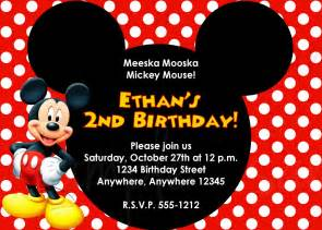 mickey mouse birthday invitations plumegiant