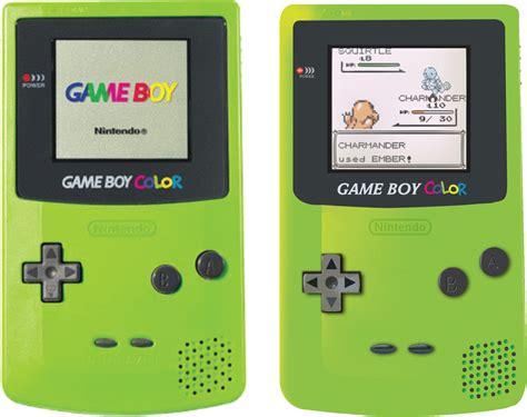 gameboy color green 1998 nintendo boy color kiwi green handheld system on