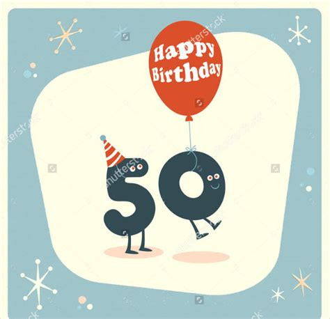 happy 50th birthday card template birthday card designs free premium templates