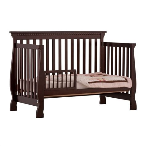 4 In 1 Fixed Side Convertible Crib In Espresso 04587 139 Convertible Crib Espresso