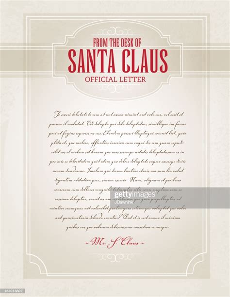 letter santa template design high res vector graphic