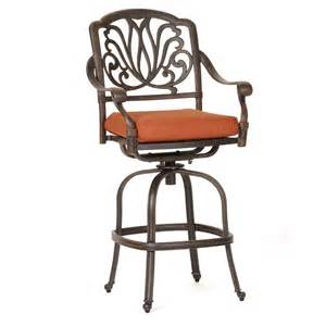 Outside Bar Stools Florence Cast Aluminum Outdoor Swivel Bar Stool Ca 777 7