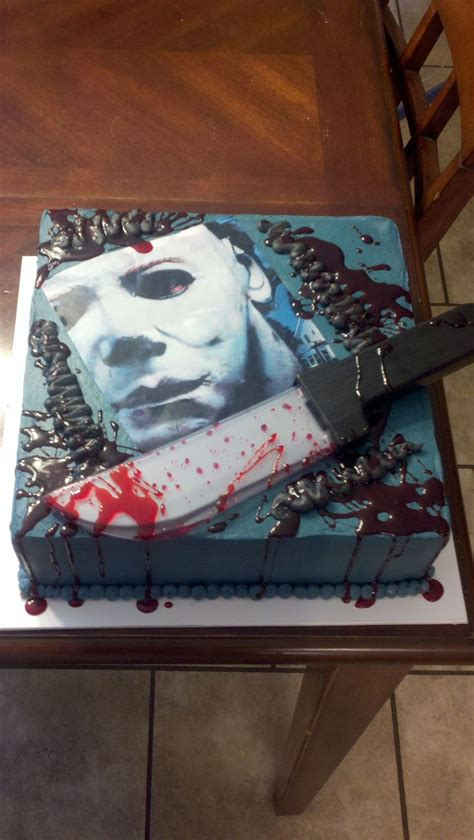 michael myers cake michael myers is an edible image