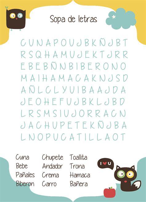 sopa de letras de baby shower para imprimir gratis apexwallpapers juego babyshower sopa de letras bebe babyshower play