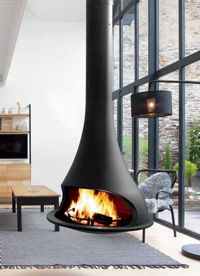 jc bordelet suspended fireplace wall fireplace modern