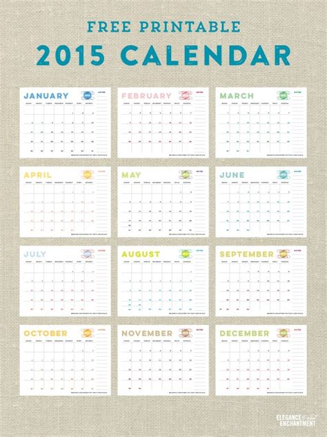 free printable 2015 calendar template 15 free printable 2015 calendars to kickstart the new year