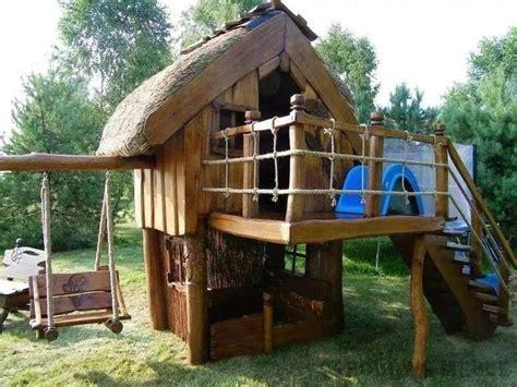 spielhäuser für den garten kinder spielhaus spielturm kinderhaus stelzenhaus