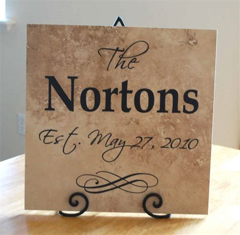 Vinyl Wedding Gift Ideas wedding gift idea vinyl lettering family tile