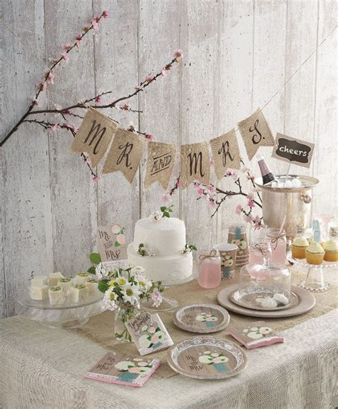 Pinterest Home Decorations Bridal Shower Set Up With Rustic Romantic Theme Bridal