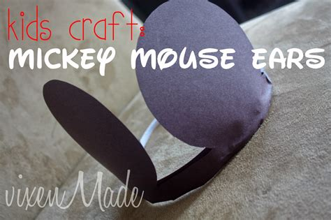 How To Make Mickey Mouse Ears With Construction Paper - vixenmade craft mickey mouse ears