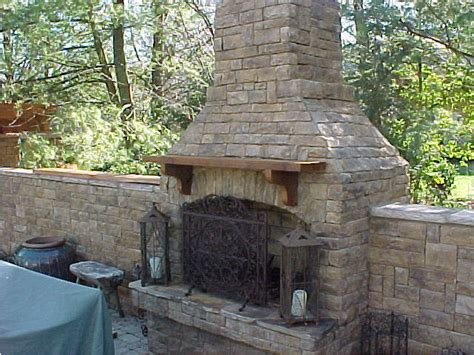 Age Outdoor Fireplace by Mountain And Outdoor Fireplaces Go Well Together