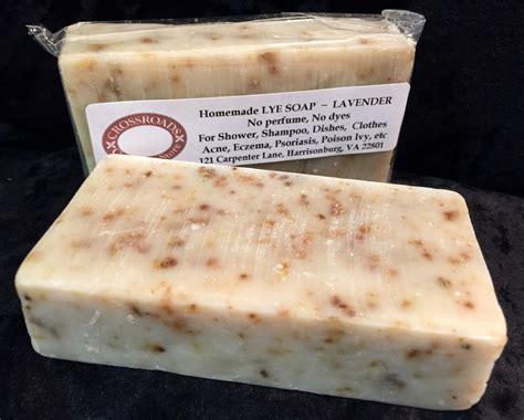 Handmade Lye Soap - lye soap lavender confederate shop