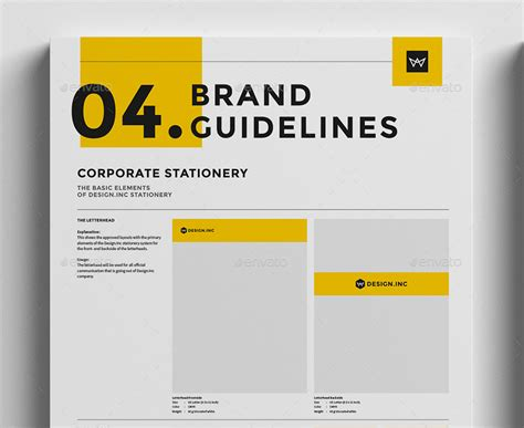 Brand Manual Template 4 Stationery By Egotype Graphicriver Brand Manual Template