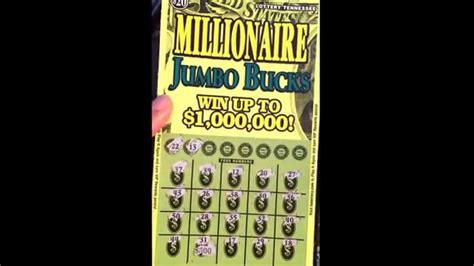 lottery tennessee millionaire jumbo box tennessee lottery scratch youtube