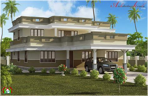 kerala home design flat roof elevation beautiful flat roof home design architecture kerala
