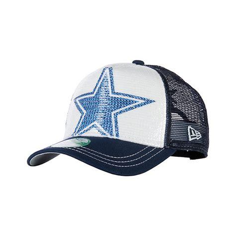 dallas cowboys new era womens sequination cap adjustable