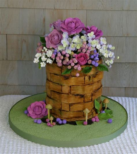 Newest Kitchen Ideas you have to see chocolate flower basket cake on craftsy